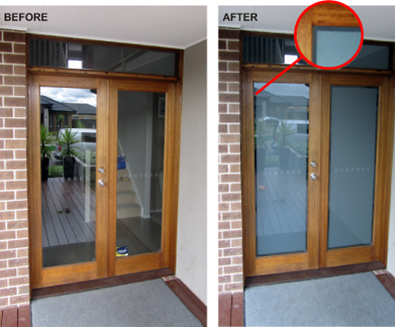 Contemporary Glass Front Door Privacy Vic Magielinfo R With Ideas